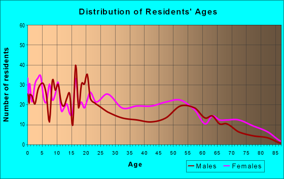 Age and Sex of Residents in zip code 38737