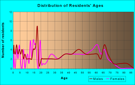 Age and Sex of Residents in zip code 41385