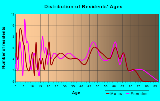 Age and Sex of Residents in zip code 41804