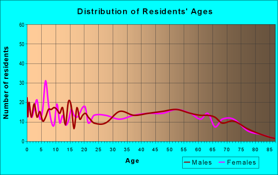 Age and Sex of Residents in zip code 42048