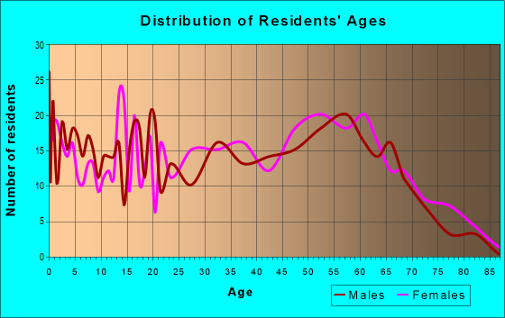 Age and Sex of Residents in zip code 42058