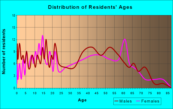 Age and Sex of Residents in zip code 42069