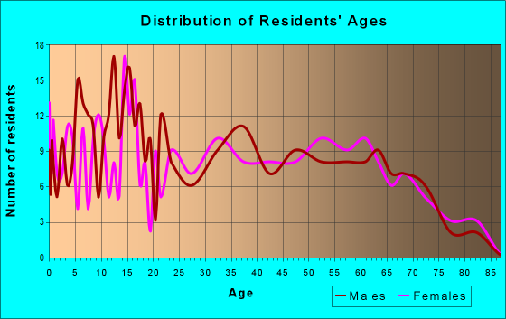 Age and Sex of Residents in zip code 42328