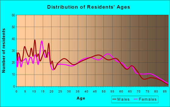 Age and Sex of Residents in zip code 42378