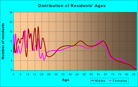 Age and Sex of Residents in zip code 42528