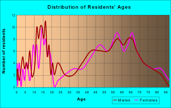 Age and Sex of Residents in zip code 44251