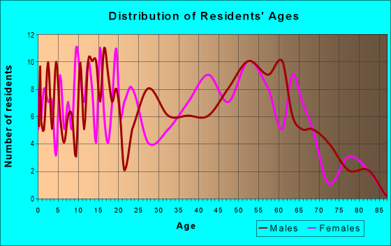 Age and Sex of Residents in zip code 45788