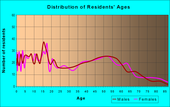 Age and Sex of Residents in zip code 45858