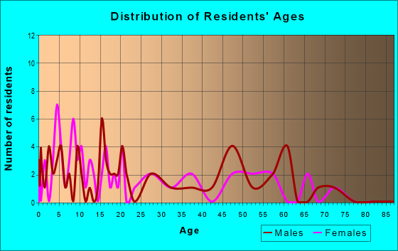 Age and Sex of Residents in zip code 45861