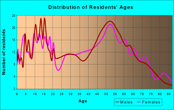 Age and Sex of Residents in zip code 46951