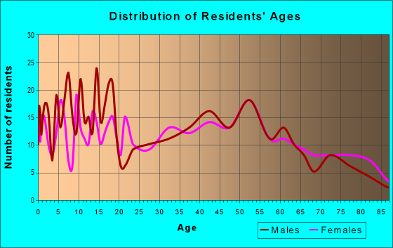 Age and Sex of Residents in zip code 46978