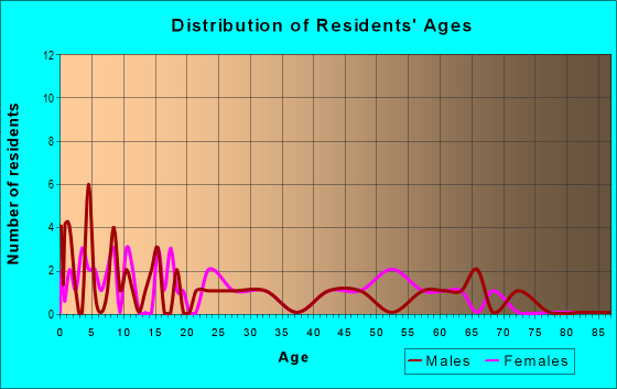 Age and Sex of Residents in zip code 47683