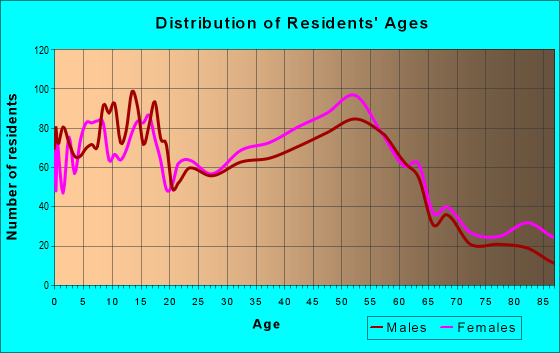 Age and Sex of Residents in zip code 48128