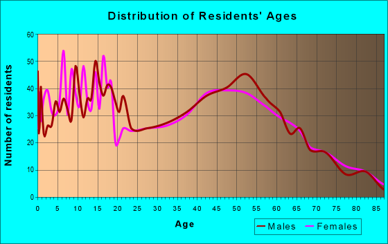 Age and Sex of Residents in zip code 48416
