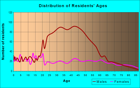 Age and Sex of Residents in zip code 48811