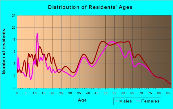 Age and Sex of Residents in zip code 49411