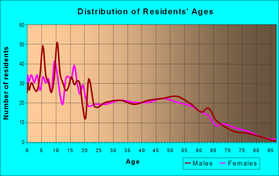 Age and Sex of Residents in zip code 49450