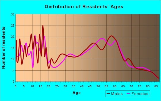 Age and Sex of Residents in zip code 51024