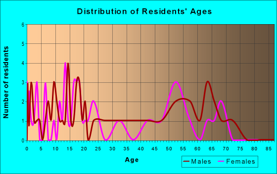 Age and Sex of Residents in zip code 51029