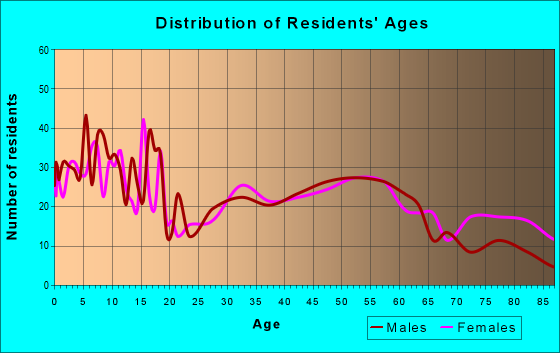Age and Sex of Residents in zip code 51246