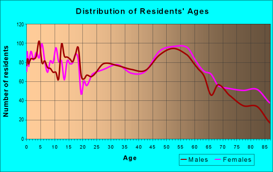Age and Sex of Residents in zip code 51301