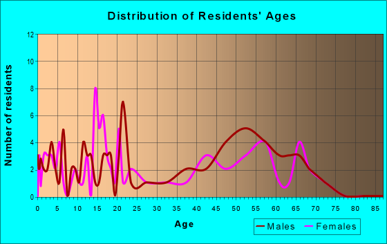 Age and Sex of Residents in zip code 51345