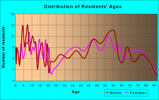 Age and Sex of Residents in zip code 51347