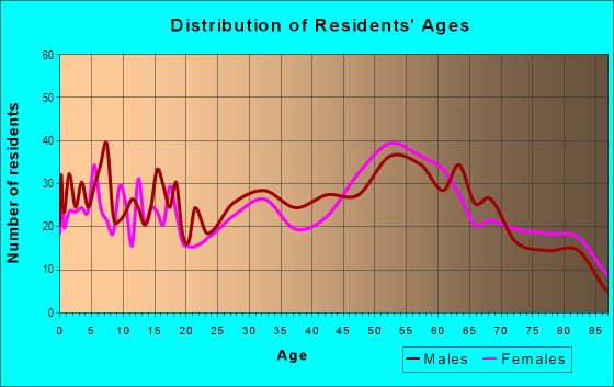 Age and Sex of Residents in zip code 51351