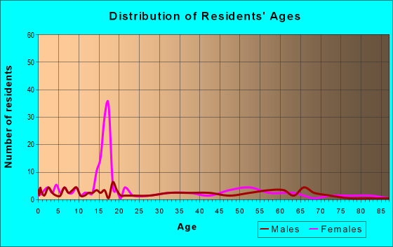 Age and Sex of Residents in zip code 51365