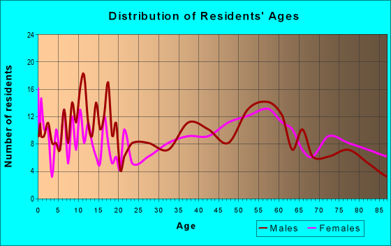 Age and Sex of Residents in zip code 51529