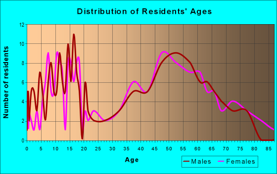 Age and Sex of Residents in zip code 51533