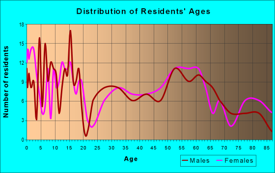 Age and Sex of Residents in zip code 51653