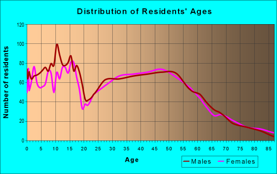 Age and Sex of Residents in zip code 53128