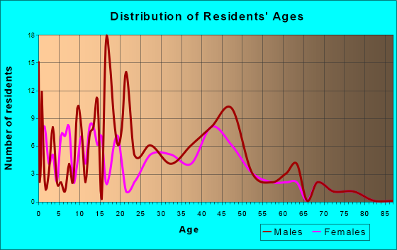 Age and Sex of Residents in zip code 54012