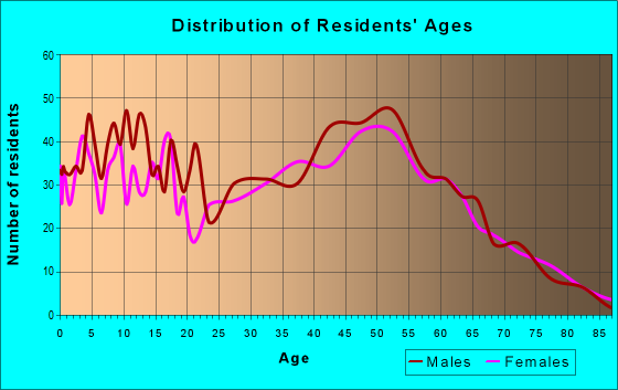 Age and Sex of Residents in zip code 54106