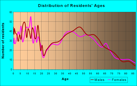Age and Sex of Residents in zip code 54484