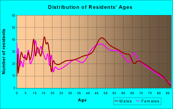 Age and Sex of Residents in zip code 56368