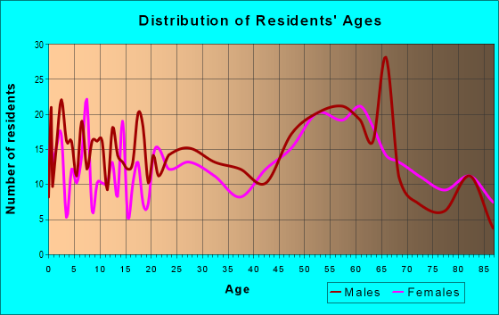 Age and Sex of Residents in zip code 56381