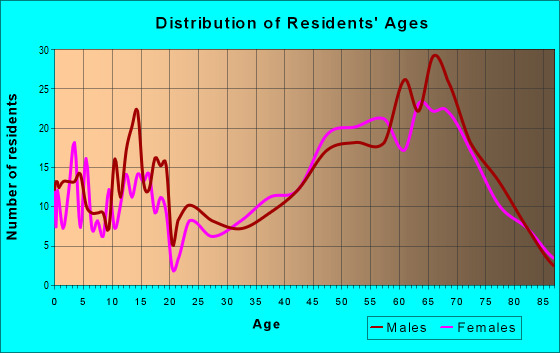 Age and Sex of Residents in zip code 56467
