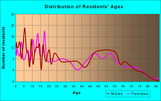 Age and Sex of Residents in zip code 56569