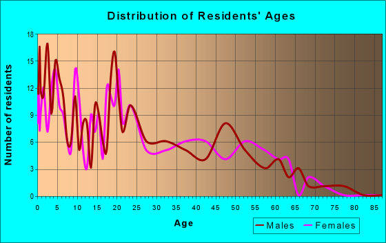 Age and Sex of Residents in zip code 59855