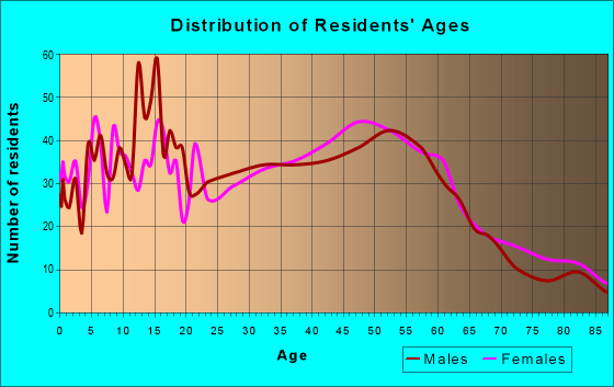 Age and Sex of Residents in zip code 60163