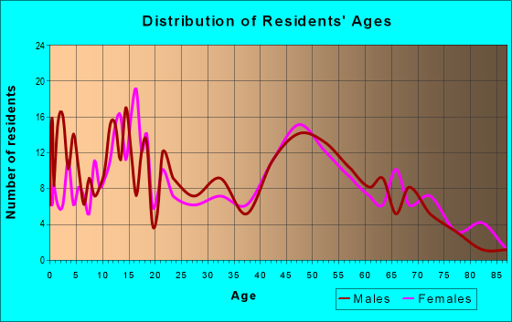 Age and Sex of Residents in zip code 60460