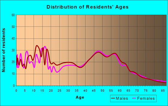 Age and Sex of Residents in zip code 60541