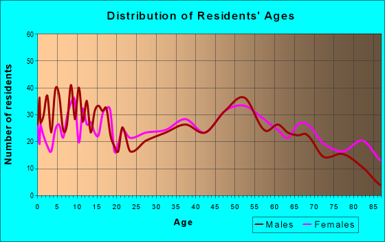 Age and Sex of Residents in zip code 60936