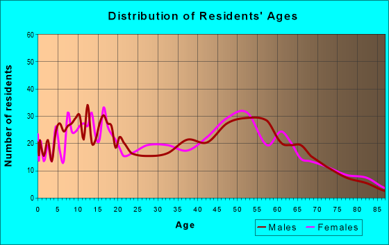 Age and Sex of Residents in zip code 60940
