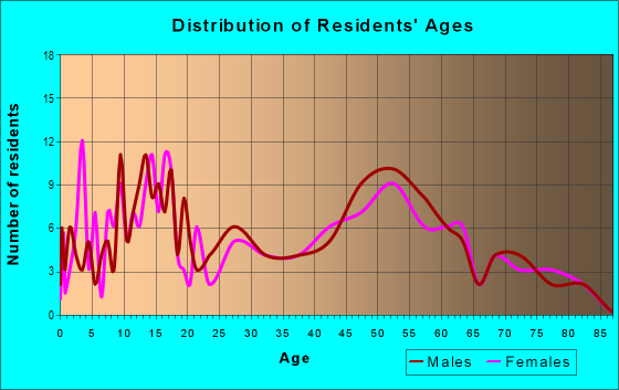 Age and Sex of Residents in zip code 60951