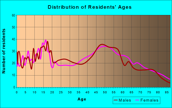 Age and Sex of Residents in zip code 61310