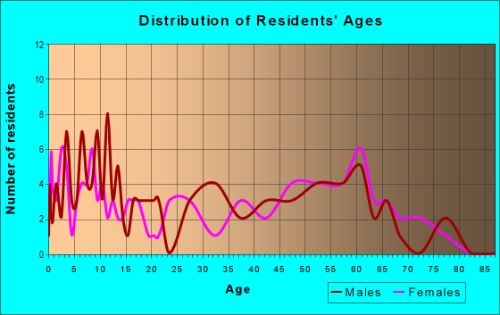 Age and Sex of Residents in zip code 61816