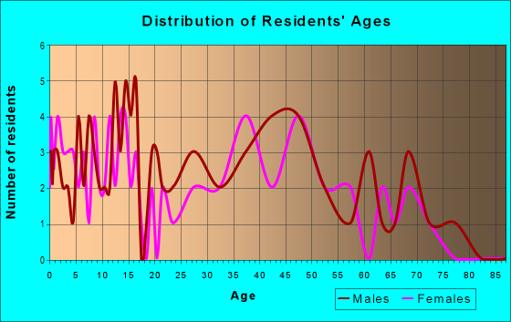 Age and Sex of Residents in zip code 63030